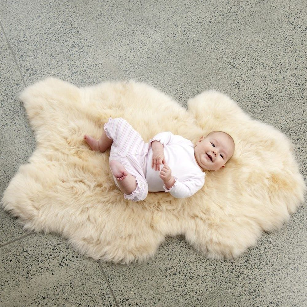 Ecowool sheepskin baby rug Warm Honey