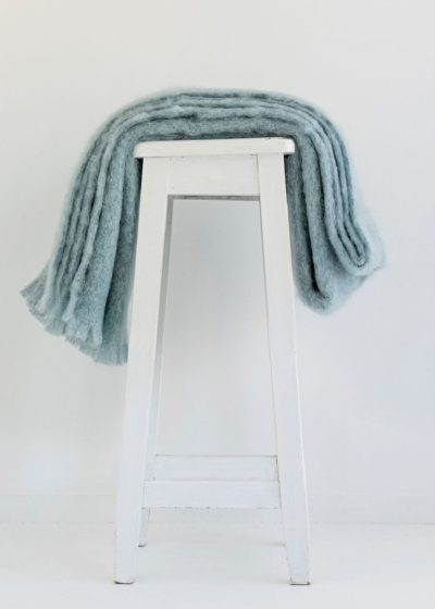 mohair throw Glacier - ecowool
