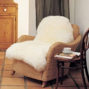 Sheepskin rug bowron-single Champagne