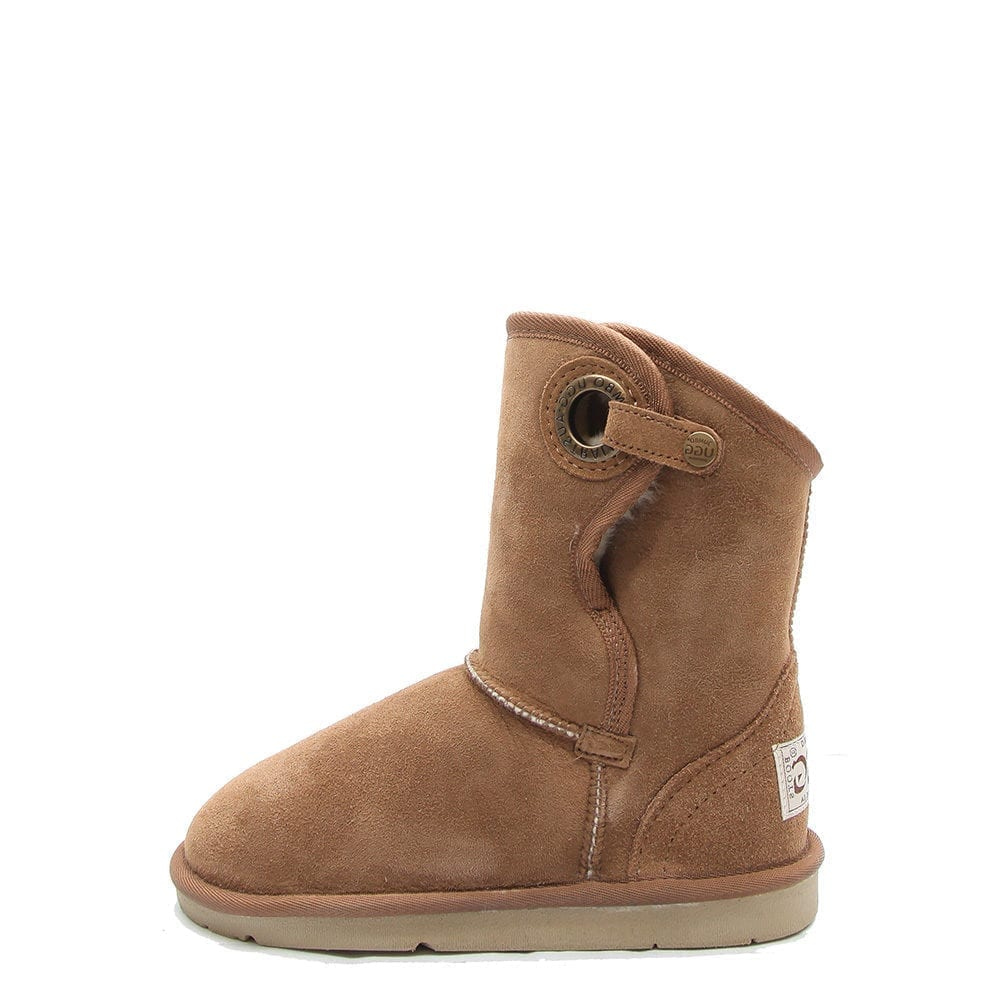 Powlett Sheepskin Boot Chestnut - Ecowool