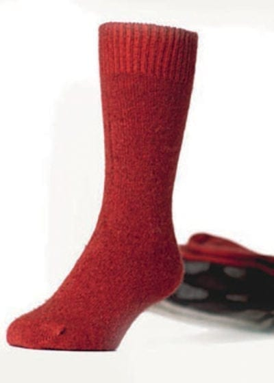 KO70 Dress wool socks in red