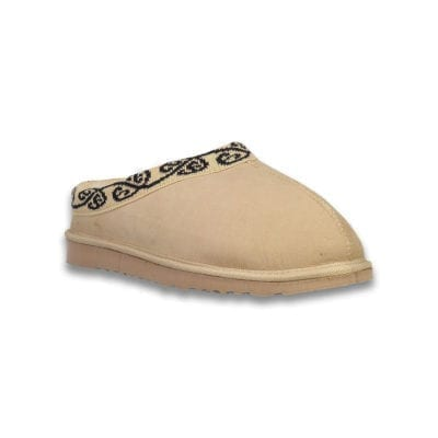 Sheepskin slipper Koru scuff - tan