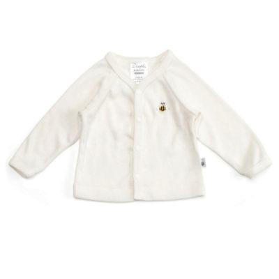 merino baby cardigan jacket cream ecowool