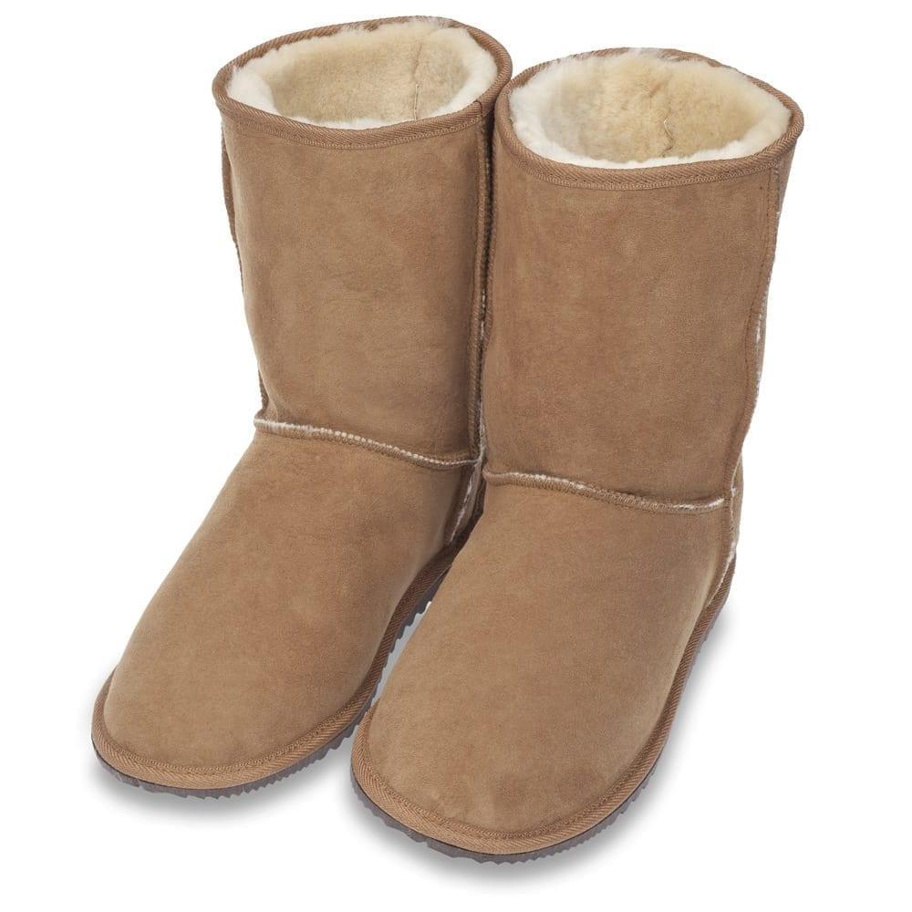 Ecowool low sheepskin boot chestnut