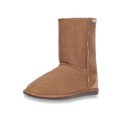 ecowool sheepskin low boot chestnut