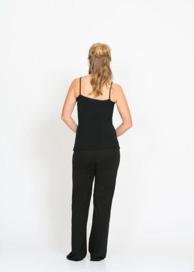 merino lounge pants black - ecowool