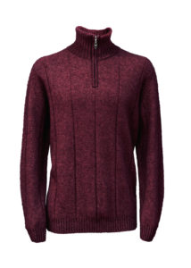 possum merino javelin zip sweater port- ecowool