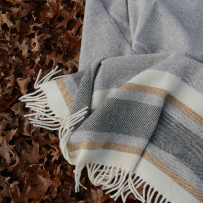 ohope wool throw caramel - ecowool