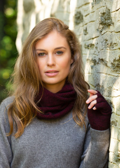 possum merino moss neck warmer port -ecowool