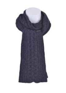 possum-merino-cable-scarf-charcoal - ecowool