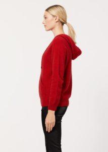possum merino casual hoodie red - ecowool