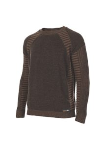 wool technical sweater brown - ecowool