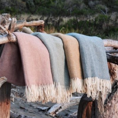 hahei wool throws - ecowool