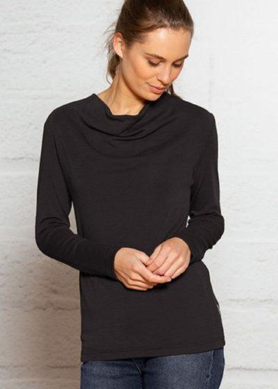pure-merino-shimmer top black -ecowool