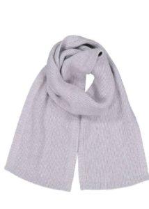 possum merino fine rib scarf silver-ecowool