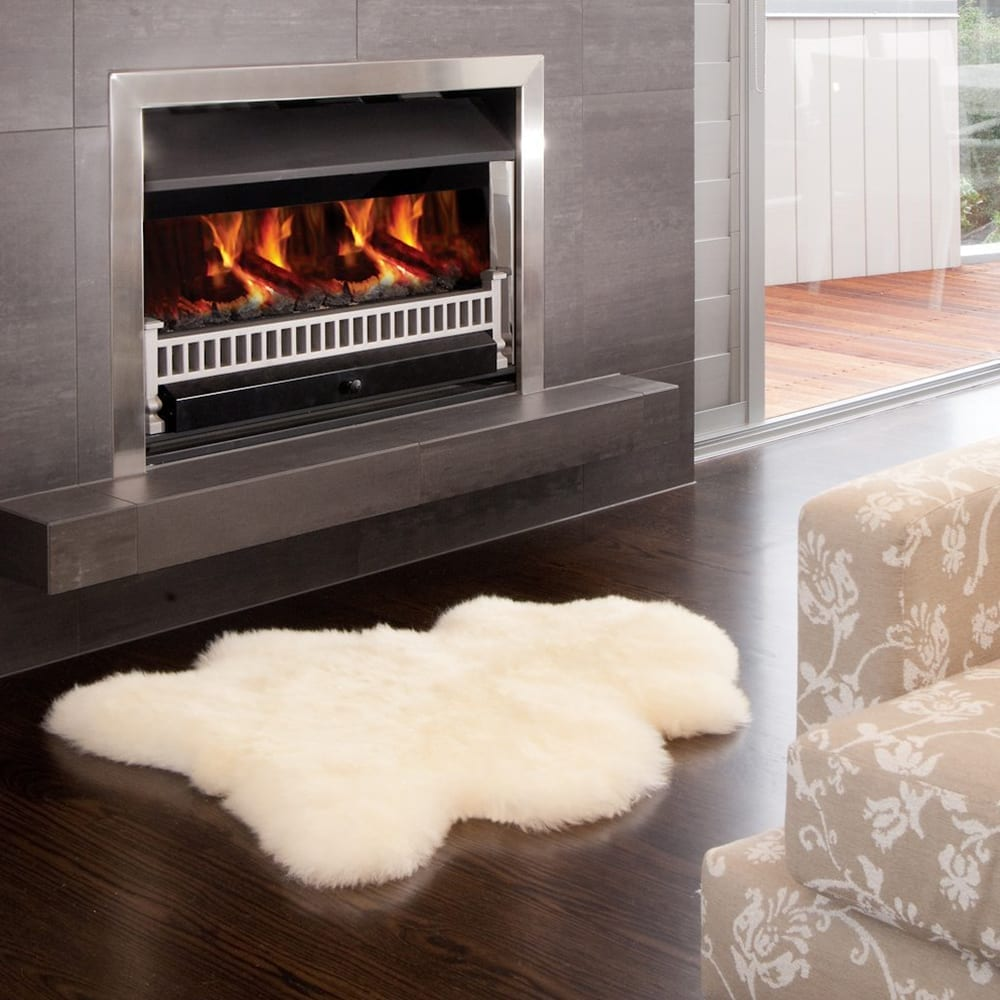 Ecowool Single Sheepskin Rug- Ivory